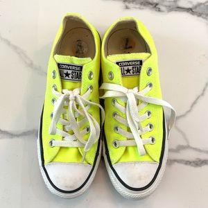 Neon Yellow Classic Converse